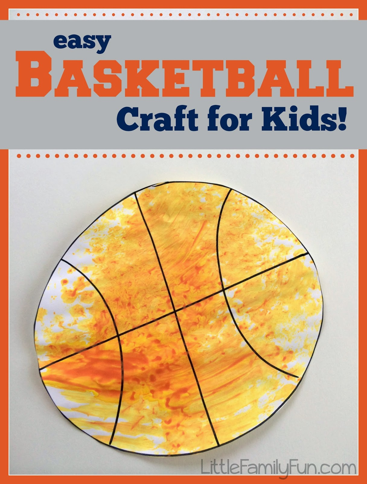 Basketball craft for kids for Crafts for little kids