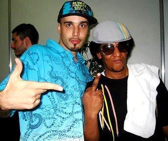 Dante Spinetta con Tego Calderón