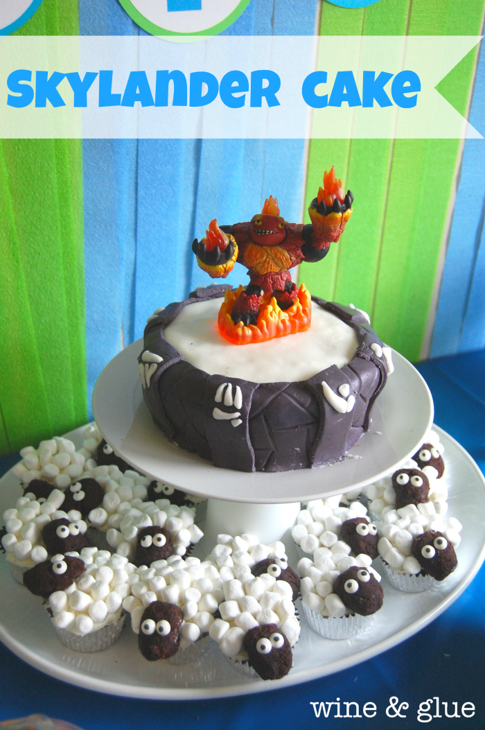 Skylander Portal Cake Sheep Cupcakes Wine Glue
