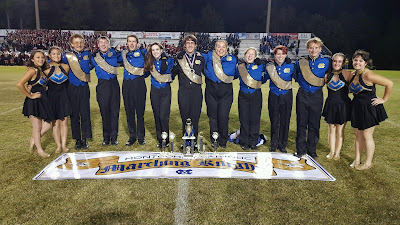 Montgomery Catholic's Stevens Overall Best Drum Major at Lake Martin Invitational Band Competition 1