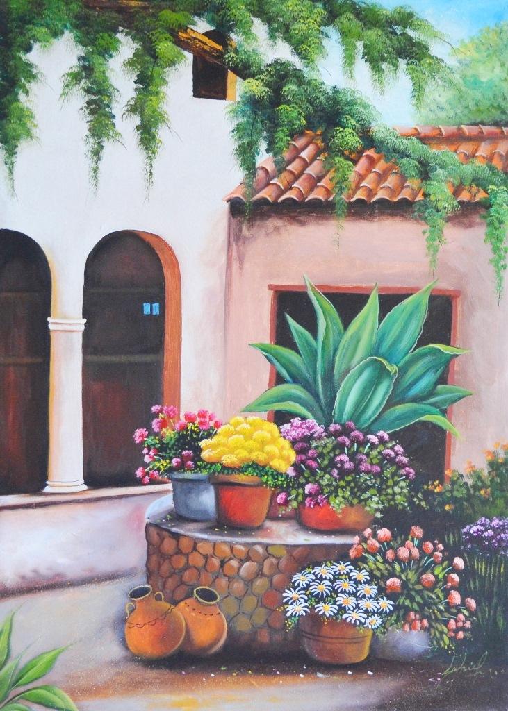 Cuadros pinturas oleos cuadros decorativos con flores - Lienzos decorativos ...