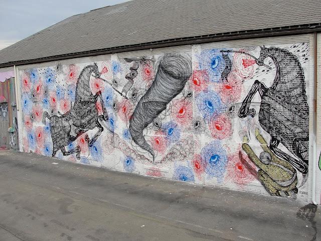 Street Art By Andrew Schoultz For RVA Urban Art Festival In Richmond, USA. 1