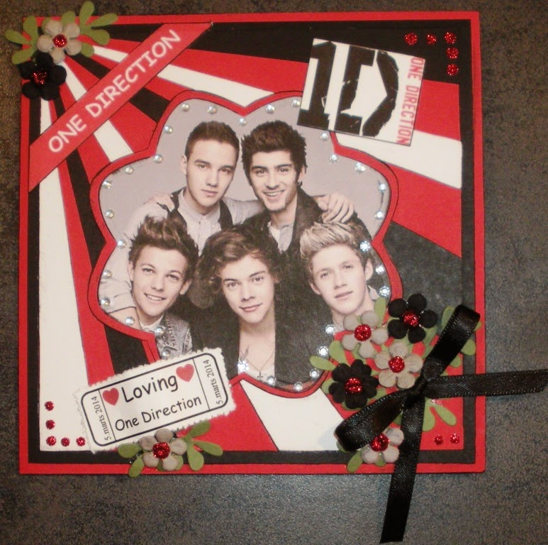 Helles Card Birthday Card With One Direction