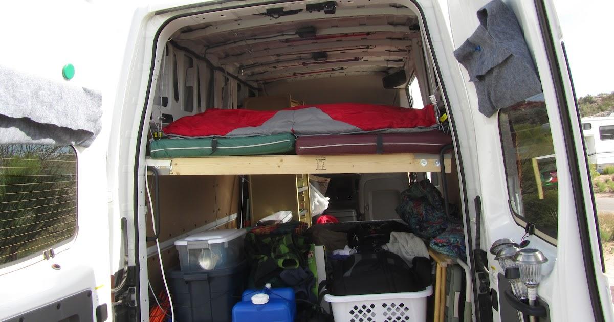 Wayfarernaut: Hanging Homemade Bed for Nissan NV 2500 HD ...