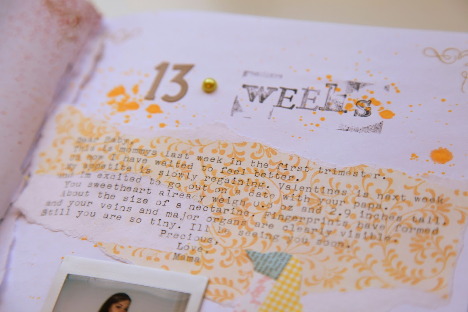 Baby journal scrapbook ideas - Pregnancy Journal