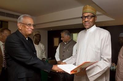 pic 3 Buhari meets up with old Indian coursemates of 1973