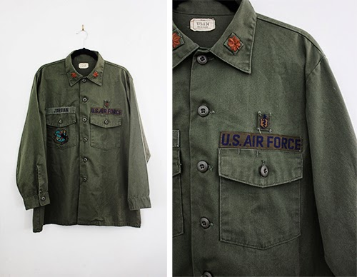 vintage us air force shirt at the CutandChicVintage boutique