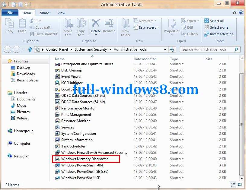 how to run memory diagnostic tool windows xp