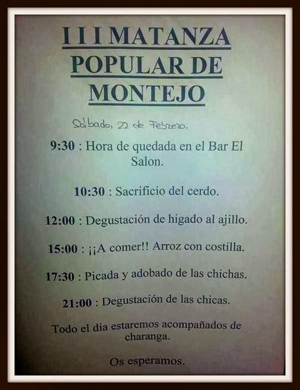 22/Feb: III Matanza Típica. Montejo de Salvatierra