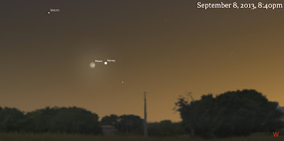 venus saturn moon september 8