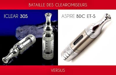 Clearomiseur Iclear 30S et Aspire BDC ET-S Pyrex