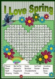 easy spring word search for kids 3 easy spring word