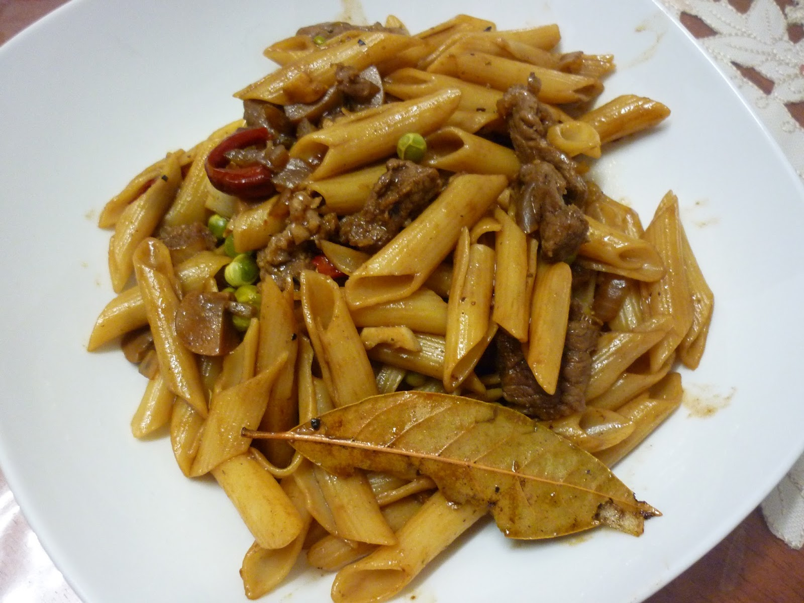 ... Chicken Curry with Bittergourd and Oriental Stir-Fry Penne with Beef