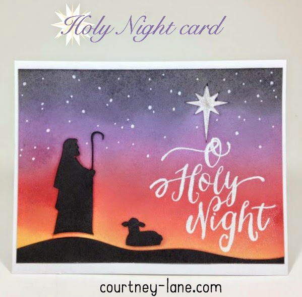 Close To My Heart Artfully Sent Cricut cartridge Holy Night Christmas card