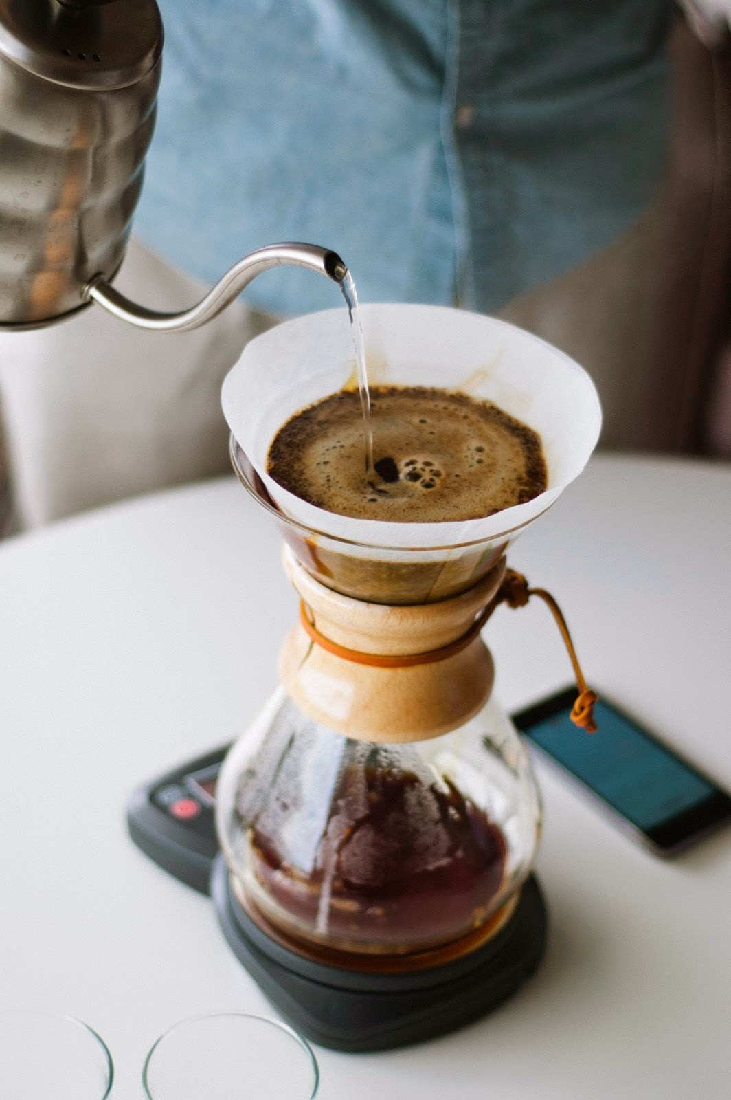 Brewing Panther Coffee in a Chemex