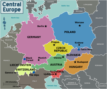 Central Europe Map Regions