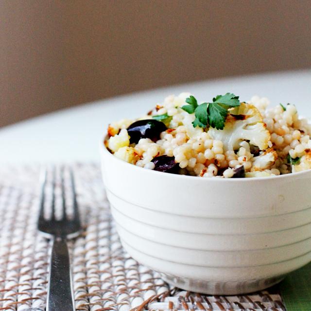 Warm Cauliflower & Israeli Couscous Salad Recipe — Dishmaps