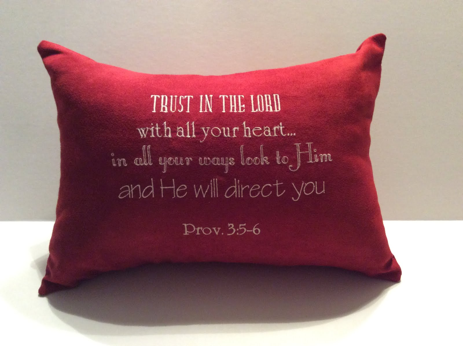 Prov. 3:5-6 - red suede