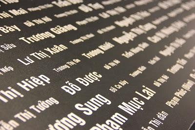 Names of the dead and missing Vietnam war