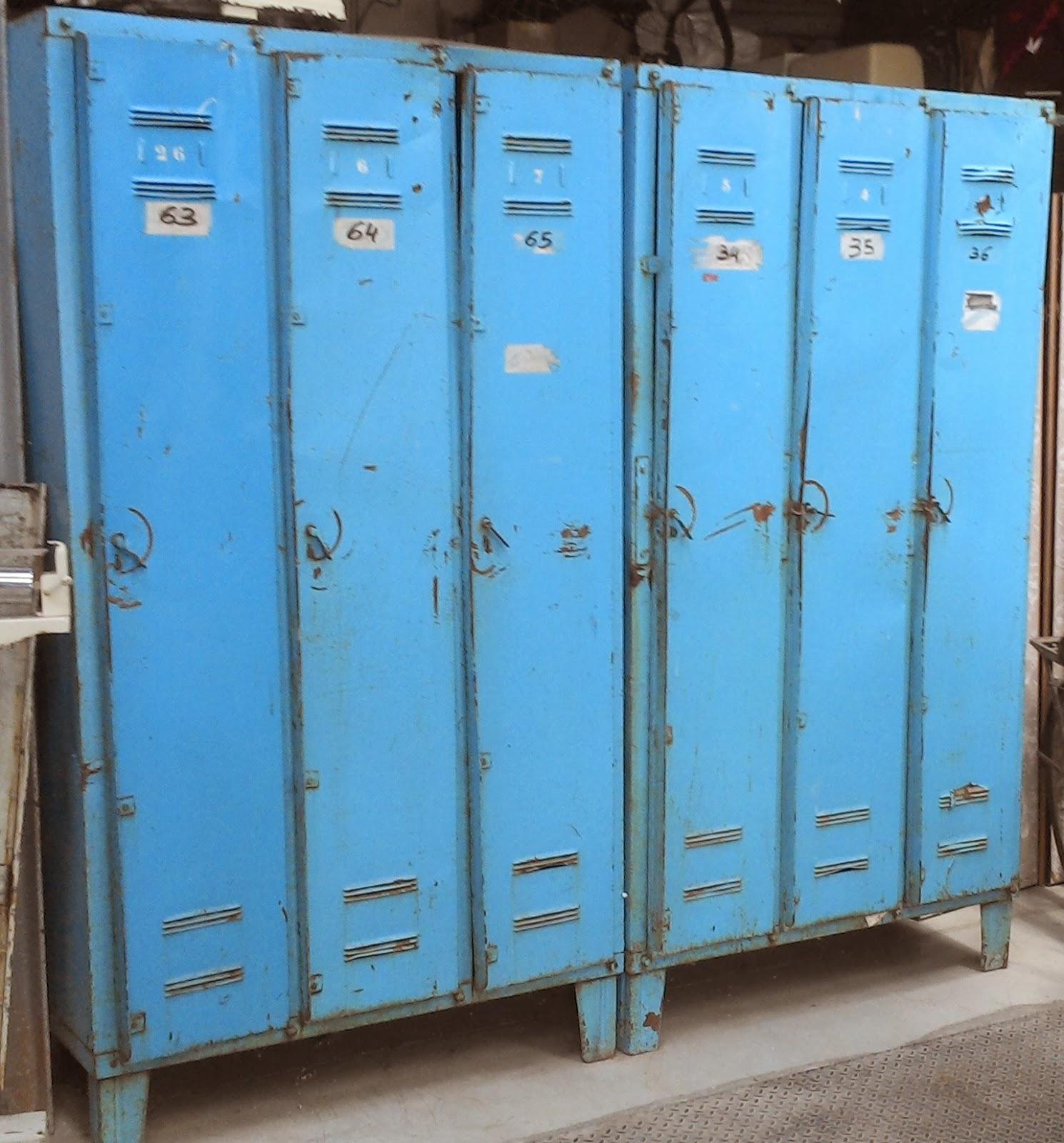 Paire anciens vestiaires en tole 3 portes design industriel atelier loft garage ebay - Porte sectionnelle industrielle occasion ...