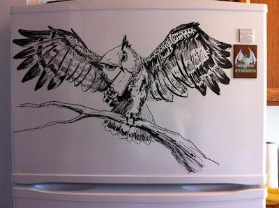 Drawings on the fridge  الرسم علي الثلاجه