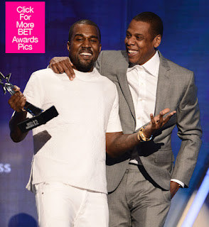 2012 BET Awards Winner: Jay Z, Kanye West, Beyonce, Nicki Minaj