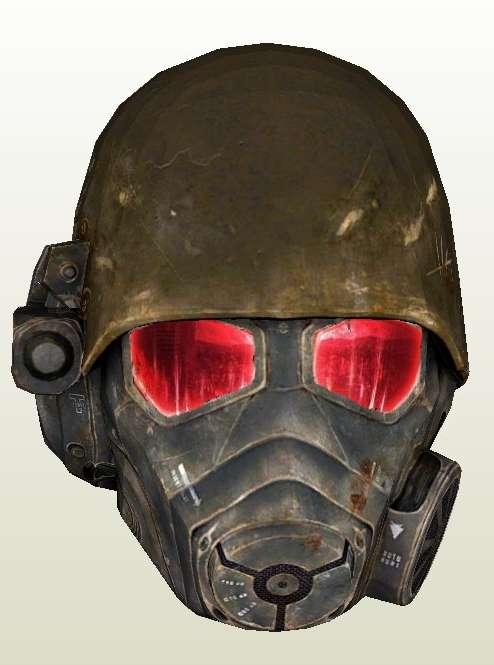 NCR Combat Ranger Papercraft Helmet