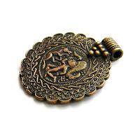 """Кулон """"Брактеат"""" украшения ручной работы латунь бронза"""