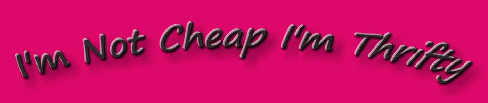 I'm Not Cheap I'm Thrifty
