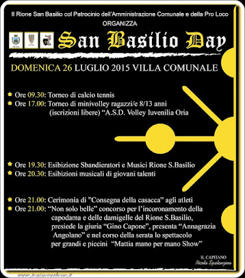 san basilio day...