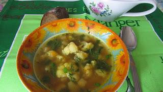 суп-пюре с сельдереем - вариант подачи