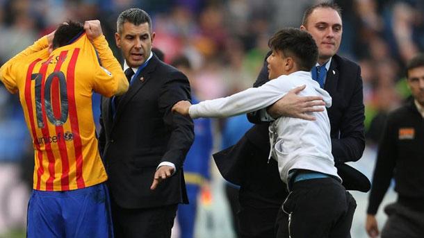 La seguridad de La Rosaleda se habría quedado con la camiseta de Messi