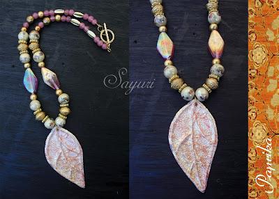 leaf paper necklace