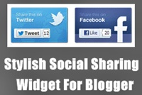 Stylish Social Sharing Widget For Blogger