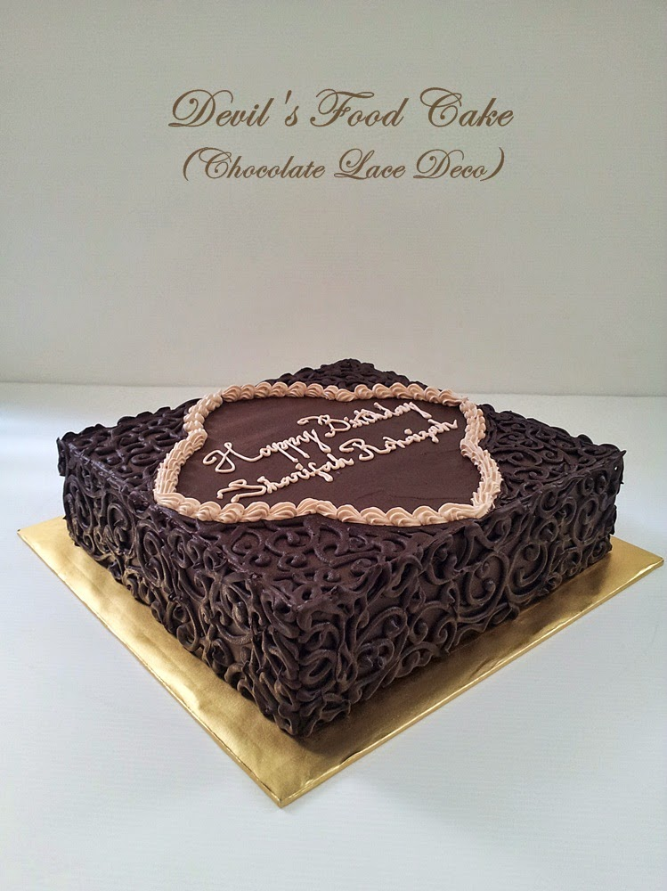 Devil's Food Cake (Lace deco) / 2.5kg