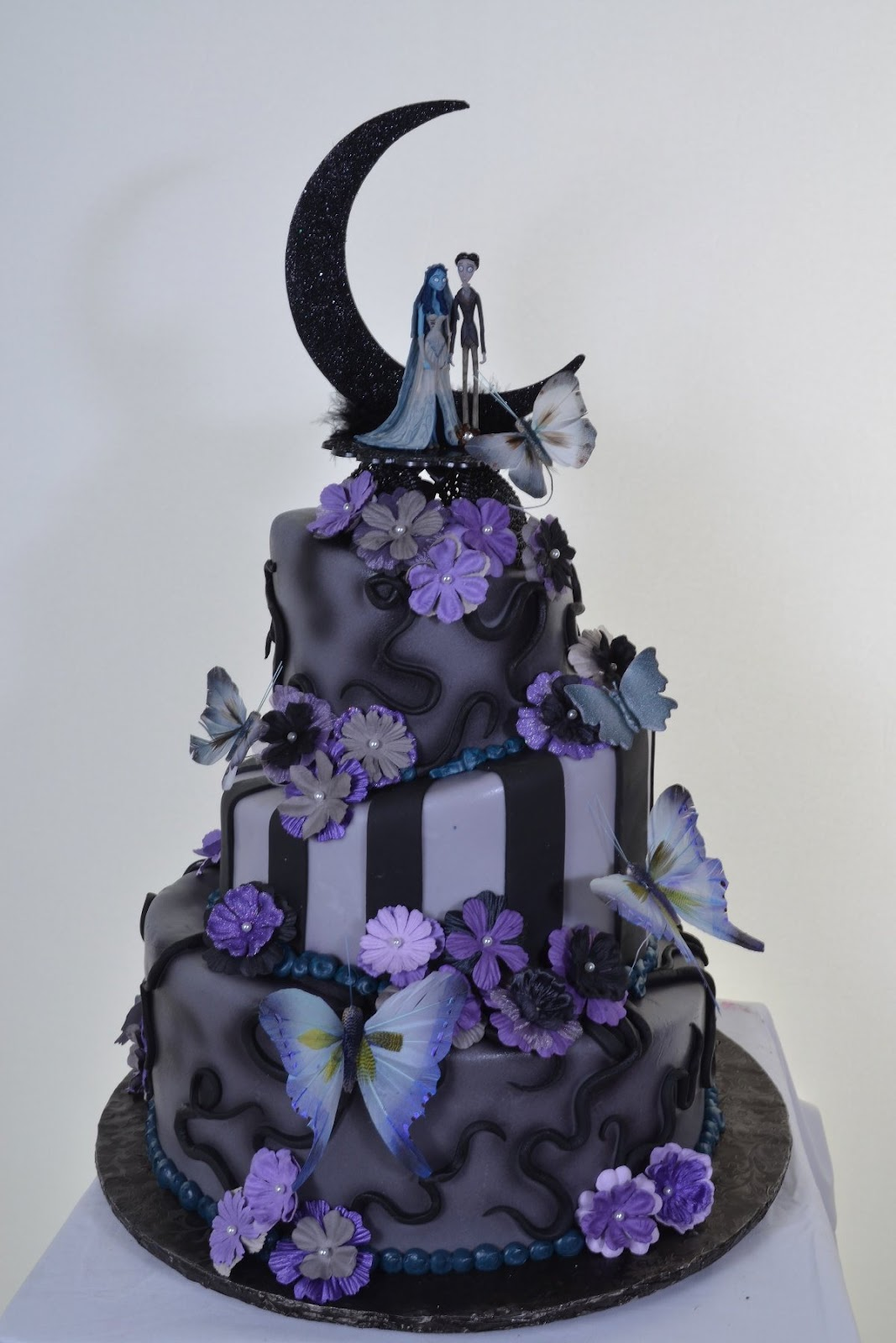 Nightmare Before Christmas Wedding Cake Toppers