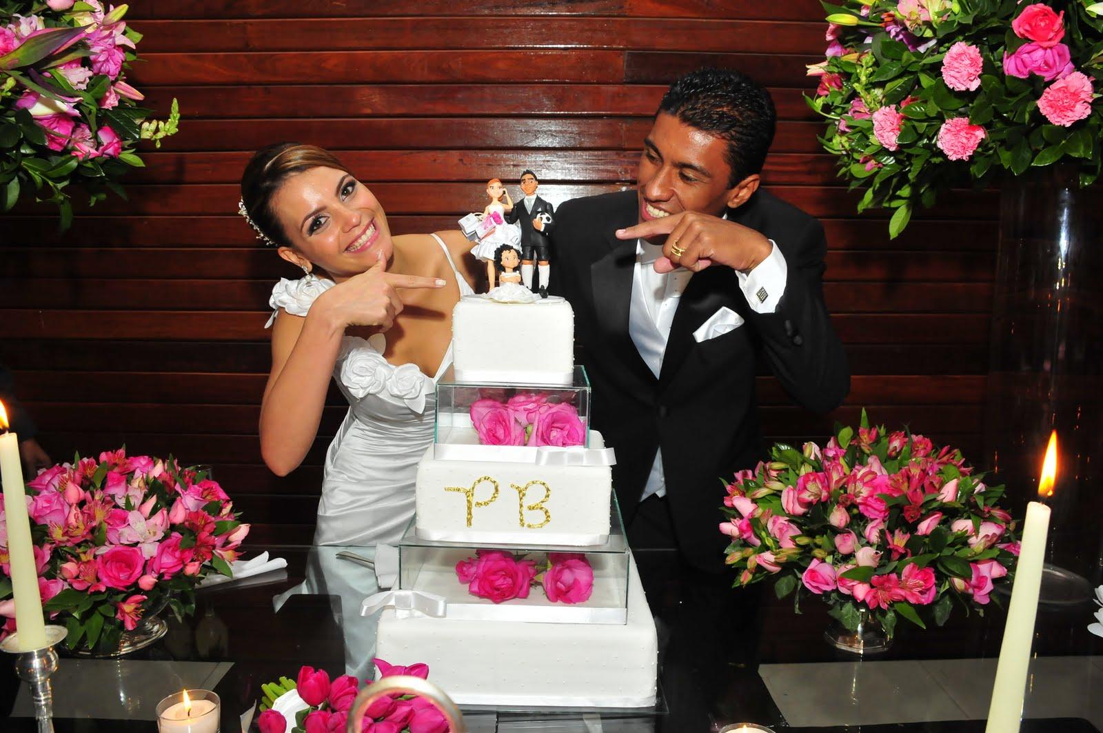 Paulinho with Wife Barbara Cartaxo