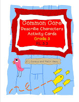 Common Core Grade 3 Character Activity Cards