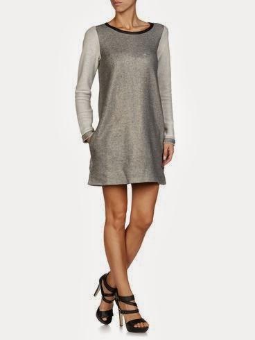 likra kumaş gri elbise kısa