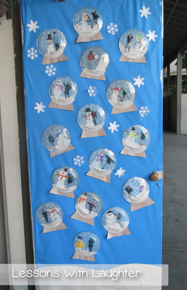 Christmas Door Decorating Ideas Snow Globe : Lessons with laughter snow globes