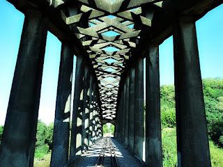 Ponte Férrea em Arco, Mata, RS