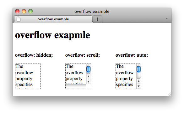 How to create scrollbar or example of overflow in css - Css for scrollbar in div ...