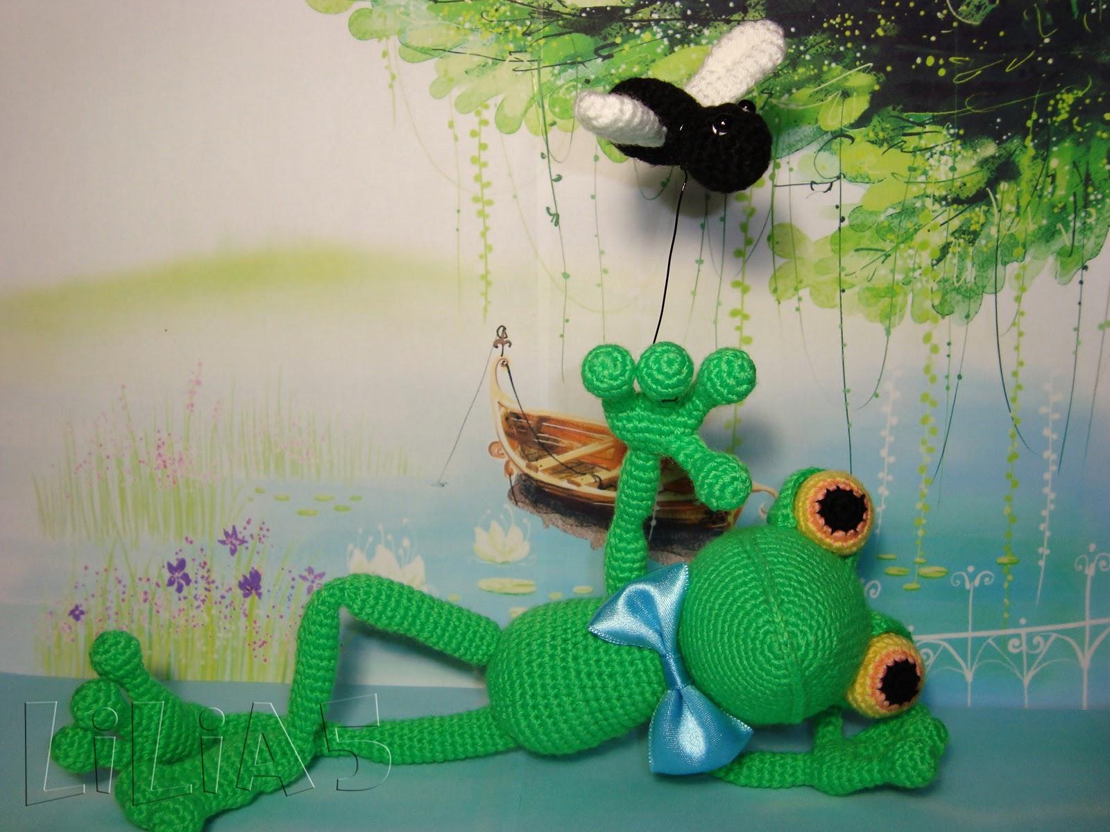 Лягушка handmade. Зачарованный принц. Вязание крючком 7