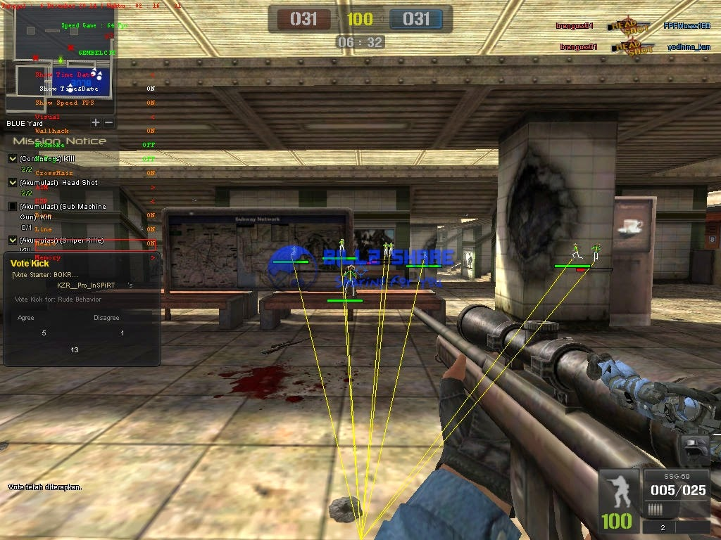 Cheat Point Blank WallHack + ESP Hack 06 Desember 2014