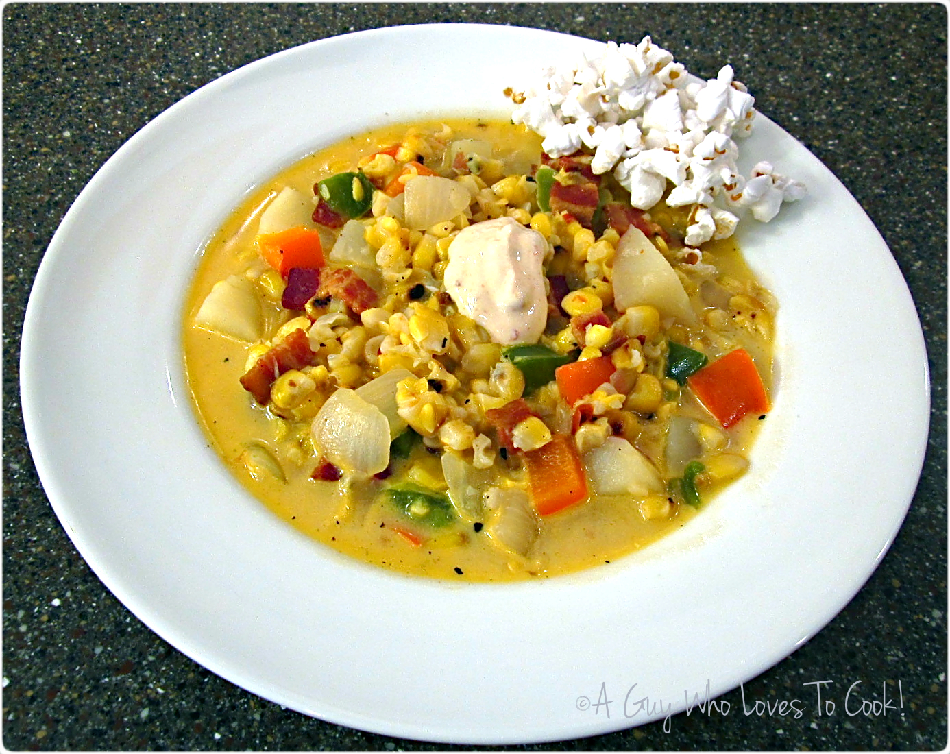 Roasted Corn Chowder (Popcorn Soup)