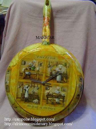 Relojes reciclados decoraci n original y - Reloj cocina original ...