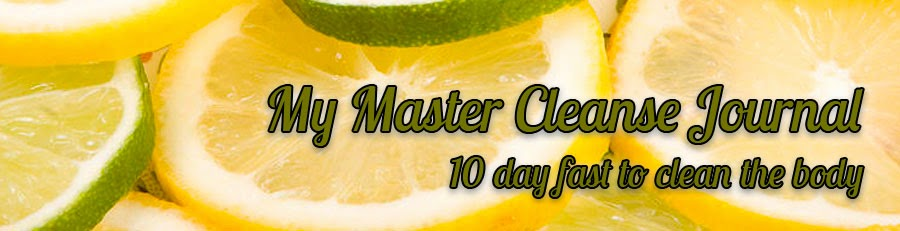 My Master Cleanse Journal