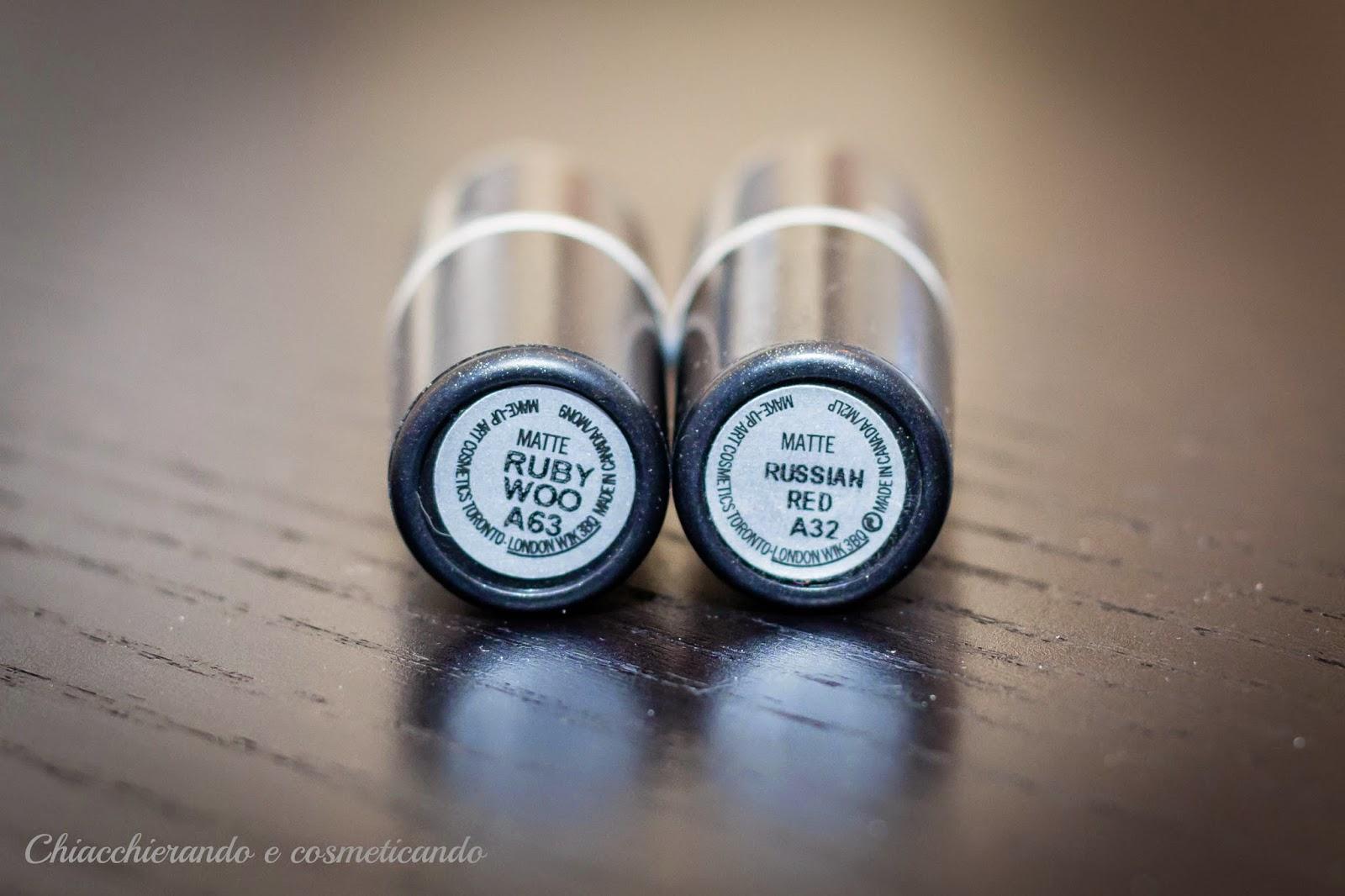I miei rossetti rossi Mac cosmetics