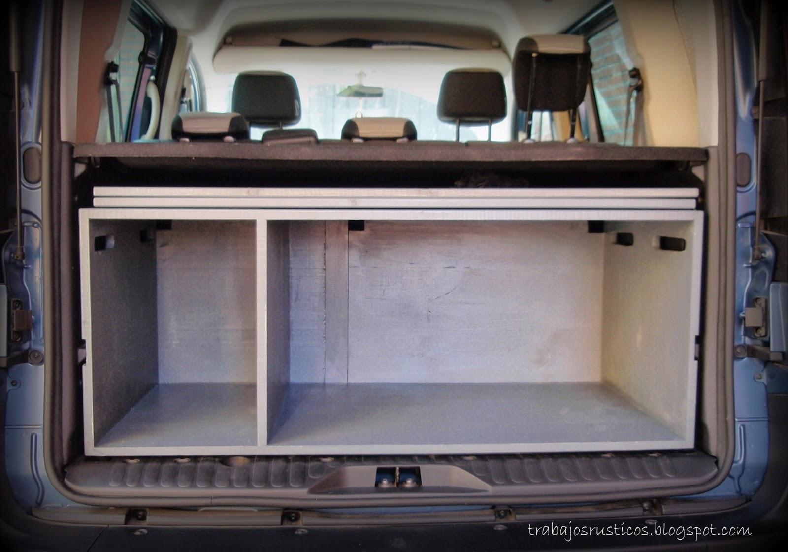 Trabajos r sticos mueble camper para furgo for Muebles furgoneta camper