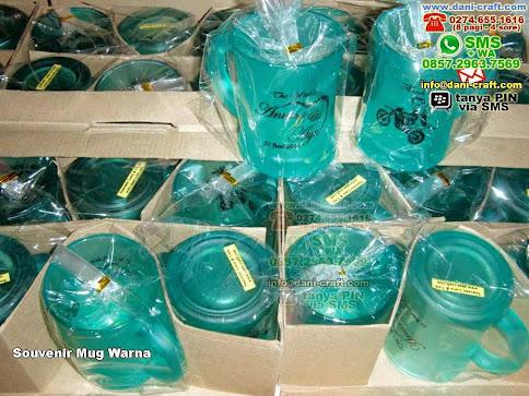Souvenir Mug Warna Gelas Beling Yogyakarta